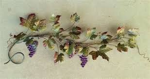 metal grapevine wall sculpture with fall colors on metal grape vine wall art with grapevine wall art elitflat