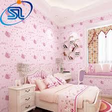 Free shipping romantic lovely hello kitty 3d wallpaper for baby kids  children girl room papel de