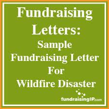 Sample Fundraising Letter Wildfire Disaster