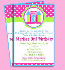 castle bounce house invitation printable or printed 128270zoom