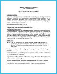 Auto Mechanic Resume Cv Objective Vinodomia Elevator Resumes