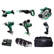 hitachi reciprocating saw. hitachi ktl618s/jw 6 piece 18v cordless li-ion kit with reciprocating saw and 3 x 4ah batteries