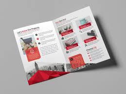 Free Two Fold Brochure Template Bifold Brochures Under Fontanacountryinn Com
