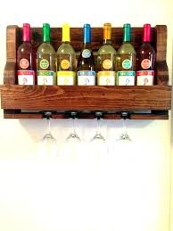 wine glass wall rack hanging plans with a bottle and holder stake set wa