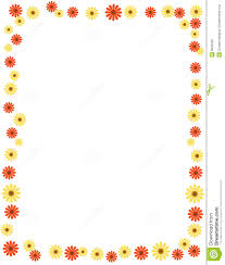 Floral Borders For Word Daisy Border Frame Stock Vector Illustration Of Bright