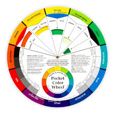 Black Color Mixing Chart Pocket Color Wheel Mixing Guide