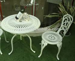 white garden furniture. white outdoor bistro set patio garden cast aluminum iron furniture ld042