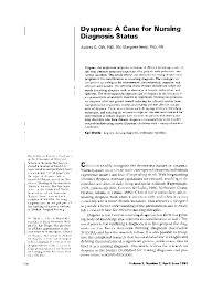 Nanda Nursing Diagnosis Pdf Dyspnea A Case For Nursing Diagnosis Status Audrey