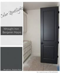 my new front door color if you ve been searching for the perfect black paint color benjamin moore wrought iron is the perfect muted black balanced and