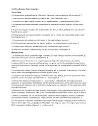 The Financial Analysis Section Ofs Plan Should Quizlet Part Pdf ...