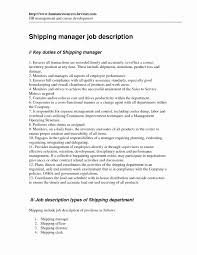 Shipping Receiving Clerk Sample Resume Receiving Clerk Resume Sample Elegant Shipping Receiving Clerk 12