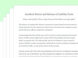 Basic Liability Waiver Form Mesmerizing Generic Liability Waiver Template Amazing Generic Liability Waiver