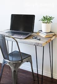 how to build a diy reclaimed wood desk with hairpin legs