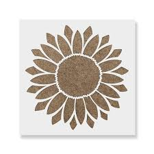 Sunflower Stencil Designs Sunflower Stencil Template For Walls And Crafts Reusable Stencils For Painting In Small Large Sizes