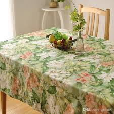 bz312 thick cotton table cloth fresh leaf flower fashion home hotel d factory s american country style tablecloth for wedding 120 round