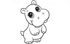 Hippo Childrens Coloring Pages Print Coloring
