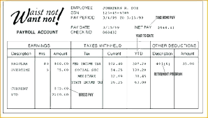 Sample Check Stub Paycheck Sample Template Sample Paycheck Check Stub Template Of Pay