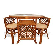 Glass top dining sets Rectangular Image Unavailable Amazoncom Amazoncom Borneo Compact Dining Set Table With Glass Top 2