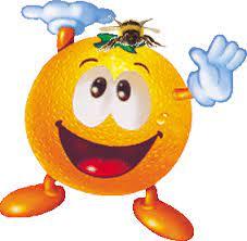 Смайлик: Апельсинчик с пчелкой стрикер наклейка картинки gif анимашки  скачать