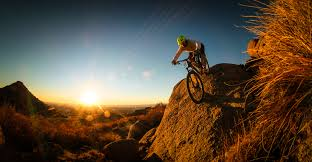Image result for man on mountain bike
