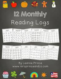First Grade Reading Log Mrs Prince And Co Monthly Reading Logs