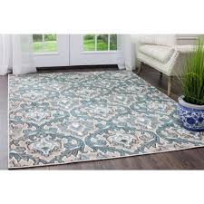 home dynamix oxford blue cream 8 ft x 10 ft indoor area rug