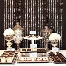 bead curtain dessert table