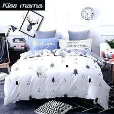 custom duvet cover cotton bedding set king size duvet cover custom bed clothes grey tree sheets