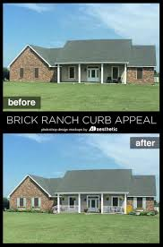 Remodelaholic | Adding Curb Appeal: The Blank Slate Brick Ranch