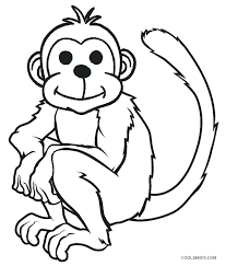 Printable Monkey Coloring Pages Monkey Coloring Pages Free Printable