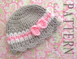 Infant Crochet Hat Pattern Simple Baby Girl Crochet Hats Free Patterns Crochet And Knit