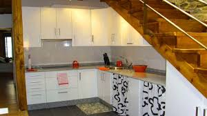 kitchen design under stairs