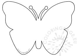 Butterfly Pattern Custom Simple Felt Butterfly Pattern Coloring Page