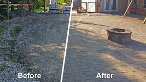 before and after paver patio extension before and after paver patio extension
