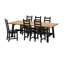 skogsta kaustby table and 6 chairs
