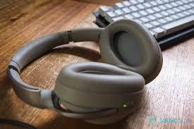 sony 1000x headphones. a photo of the sony wh-1000x m2 wireless bluetooth headphones on their backs, 1000x