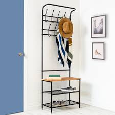 Image Coat Hooks Entryway Storage Hall Tree Wayfair Honey Can Do Entryway Storage Hall Tree Reviews Wayfair