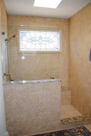 Walk in shower with half wall Bathroom Remodel Showers With Half Walls The Above Picture Shows Half Wall With Glass Above But Without The Pinterest Showers With Half Walls The Above Picture Shows Half Wall With
