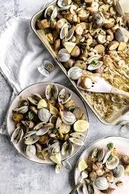 Sheet Pan Southern Seafood Bake — P & P