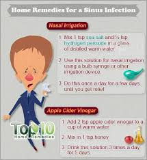 home remes for a sinus infection