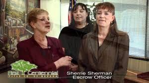 Sherrie Sherman, Escrow Officer - YouTube
