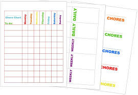 Chore Chart Printable Kit