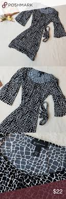 Nwot Black And White Petite Dress With Belt 32 Inches From
