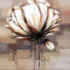 large white flower oil paintings abstract wall art picture