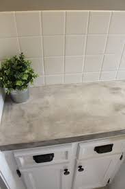Cement Over Tile Countertops Bathroom Makeover Diy Concrete Counters Simply Chic
