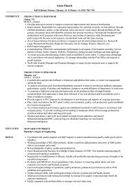 Production Supervisor Resume Sample Production Supervisor Resume Samples Velvet Jobs 7
