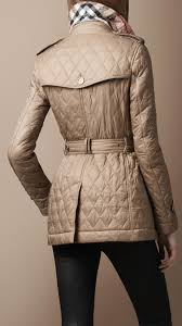 Burberry brit Short Diamond Quilted Trench Coat in Natural | Lyst & Gallery. Women's Quilted Coats Adamdwight.com