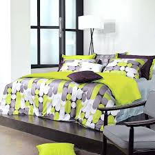 lime green and grey bedding gray bedspread