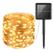 Solar Led Copper Wire Lights Us 12 31 27 Off Led Copper Wires Solar String Lights Solar Panel 20m 8modes Lampara For Outdoor Waterproof Chrismas Garden Wedding Decorative In Led