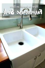 how to install a farm sink farmhouse sink installation farmhouse sink cabinet photo 4 of how how to install a farm sink